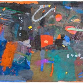 """74 Liang Quan """"Chinese Album No.10"""" colors ink rice paper mixed techniques 34 x 44 cm 1992 290x290 - Liang Quan"""