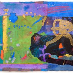 """75 Liang Quan """"Chinese Album No.9"""" colors ink rice paper mixed techniques 34 x 44 cm 1992 290x290 - Liang Quan"""