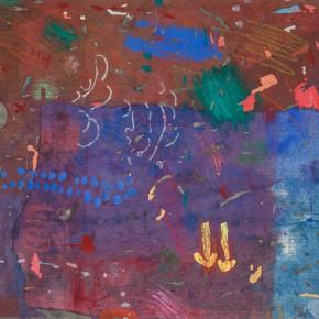 "92 Liang Quan ""Untitled No.1"" colors ink rice paper collage 50 x 60 cm 1985 290x290 - Liang Quan"