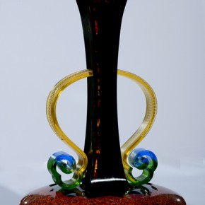 "Huang Baoxian Encounter of Bottle and Water diameter 40cm Height 60cm 290x290 - The National Art Museum of China presents ""Lacquer Arts – 2014 Cross-Strait Lacquer Arts Exhibition"""
