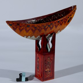 "Lai Gaoshan Boat of Lanyu 46x13x38cm 290x290 - The National Art Museum of China presents ""Lacquer Arts – 2014 Cross-Strait Lacquer Arts Exhibition"""