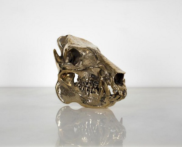 Sherrie Levine, Javelina Skull, 2010, Edition 8 or 12 Cast bronze, 21.59 x 7.62 x 15.75cm; Courtesy the artist and Simon Lee Gallery