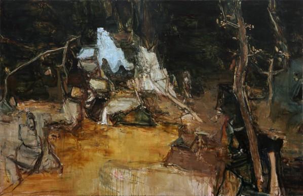 Tu Hongtao, Darkness - My Old Friend, 2013; Oil on canvas, 210X320cm