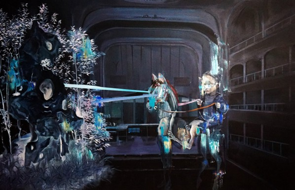 Zhang Zhaoying, Light Theater 1; Oil on Canvas, 160×120cm