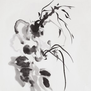 "Zhu Liye, NO.I 15; Ink and wash, 138x70cm 290x290 - Group exhibition ""To Be or Not To Be"" curated by Pui Yin Tong opens November 8 at FM Art Space"