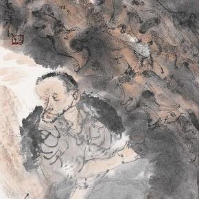 "02 Li Yang, ""Drunk in the Autumn Figure"", 136 x 34 cm, 2006"