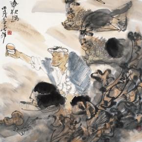 """03 Li Yang, """"Drunk in the Autumn Wind"""", 68 x 68 cm, 2006"""