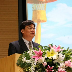 """05 Gao Hong Party Secretary of CAFA presided over the opening ceremony 290x290 - """"The Oil Painting of Chinese Style – Retrospective Exhibition of Dong Xiwen"""" was inaugurated"""