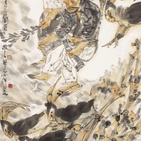 """05 Li Yang, """"The Drunken Shepherd Figure"""", 136 x 68 cm, 2005"""