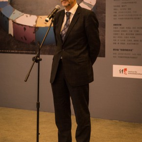 "05 Peter Anders Head of Goethe Institute China addressed the opening ceremony 290x290 - Exploring Cross-Cultural Identity: ""Art Space Germany"" Opened at CAFA Art Museum"