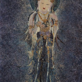 "06 Geng Mu ""Ode to the Goddess of Mercy in the Moonlit Night"" oil on canvas 120 x 80 cm 2014 290x290 - Group Exhibition ""The Taste of Life"" Shown at Soka Art Center Beijing"