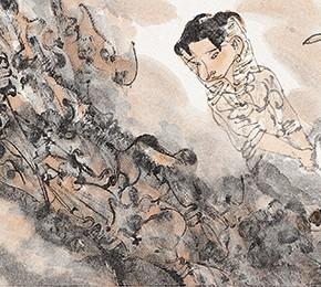 "06  Li Yang, ""The Drunken Entertainment"", 136 x 34 cm, 2006"