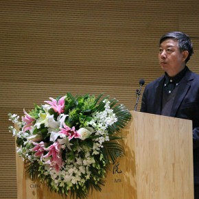 """07 Wu Changjiang Party Secretary of China Artists Association and the Vice Chairman addressed the opening ceremony  290x290 - """"The Oil Painting of Chinese Style – Retrospective Exhibition of Dong Xiwen"""" was inaugurated"""