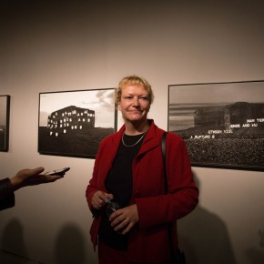 08 Curator Ursula Zeller guided the audience to visit the exhibition