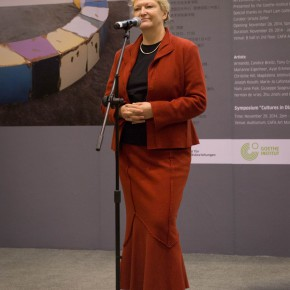 "09 Curator Ursula Keller addressed the opening ceremony 290x290 - Exploring Cross-Cultural Identity: ""Art Space Germany"" Opened at CAFA Art Museum"