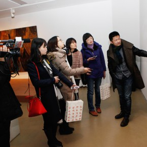 """10 Academic Director Yin Dan guided the media in visiting the exhibition 290x290 - Together on the Path: the First """"Ovation Star"""" - Exhibition of Excellent Works for the Youth Support Plan"""