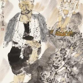 """10 Li Yang, """"On the Plateau"""", 136 x 68 cm, 2006"""