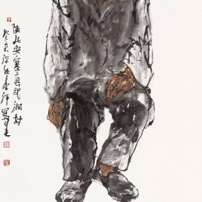 "100 Li Yang, ""The Sketch of the North of Shaanxi"", 136 x 68 cm"