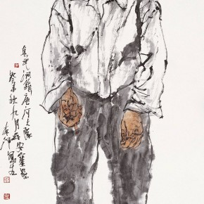 "101 Li Yang, ""The Building Worker of the Youth Station of the North of Shaanxi"", 136 x 68 cm, 2003"