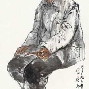 "102 Li Yang, ""Sketch of Ansai of theNorth of Shaanxi"", 136 x 68 cm, 2003"