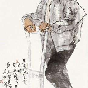 "103  Li Yang, ""The Teacher of Majiagou Primary School"", 136 x 68 cm, 2003"