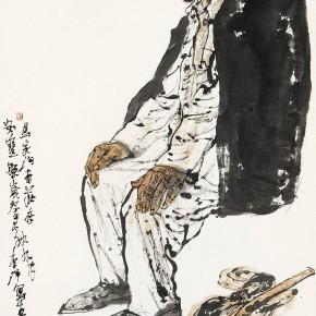 "104 Li Yang, ""The Senior Man of Majiagou"", 136 x 68 cm, 1996"