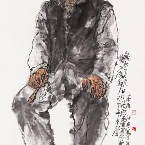 "105 Li Yang, ""The 65-Year Senior Man of Liandaowan Township"", 136 x 68 cm, 2003"