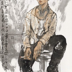 "107 Li Yang, ""The Sketch in the Class"", 136 X 68 cm, 2004"