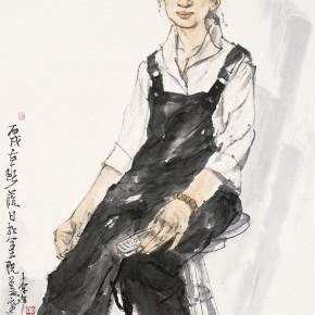 """109 Li Yang, """"The Sketch in the Studio"""", 136 X 68 cm, 2006"""