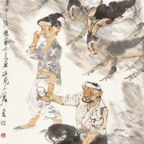 """11 Li Yang, """"Seemingly Drunken Figure"""", 136 x 68 cm, 2005"""