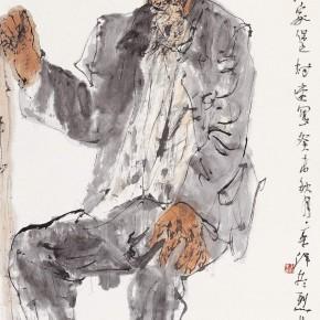 """111 Li Yang, """"The Sketch of Longzhong in Gansu"""", 136 x 68 cm, 2003"""