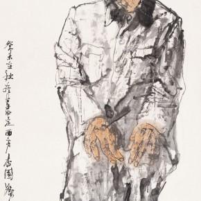 "112 Li Yang, ""The Sketch of Dingxi in Gansu"", 136 x 68 cm, 2003"