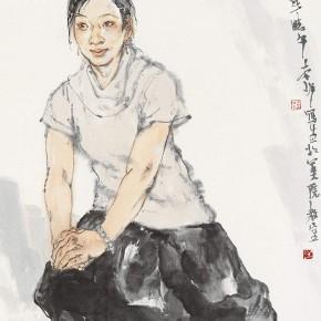 """114 Li Yang, """"The Girl from Fujian"""", 136 x 68 cm, 2006"""