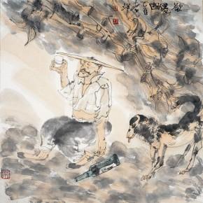 """12 Li Yang, """"Going to be the Immortal"""", 68 x 68 cm, 2005"""