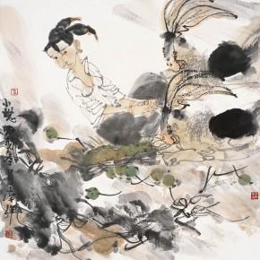 """19 Li Yang, """"A Nap"""", 68 x 68 cm, 2006"""