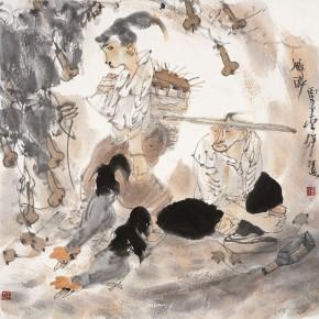 """20 Li Yang, """"Drunk in the Rural"""", 68 x 68 cm, 2006"""
