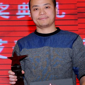 "20 Zhang Jing, winner of the ""Newcomer Award"""