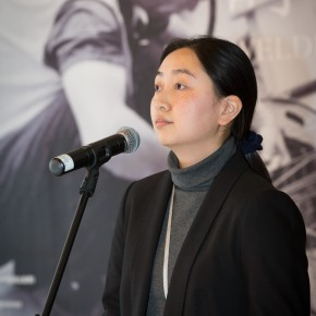 """21 Gao Gao from the Academic Department of CAFA Art Museum presided over the opening ceremony 290x290 - New Topic on Machine Aesthetics: Federico Díaz's """"The Welded Ornament of the Times"""" debuted at CAFA Art Museum"""