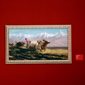 """21 Installation view of """"The Oil Painting of Chinese Style Retrospective Exhibition of Dong Xiwen on His 100th Birthday""""  290x290 - """"The Oil Painting of Chinese Style – Retrospective Exhibition of Dong Xiwen"""" was inaugurated"""