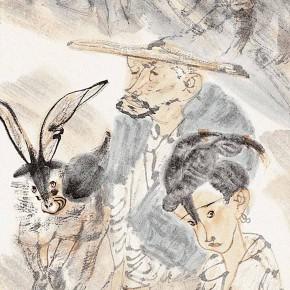 "22 Li Yang, ""Interesting Rural Life of the Plateau"", 34 x 136 cm, 2006"