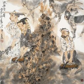 "23 Li Yang, ""The Autumn Harvest Season"", 68 x 68 cm, 2006"