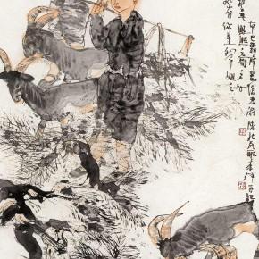 "25 Li Yang, ""The Goats and Sheep"", 136 x 68 cm, 2001"