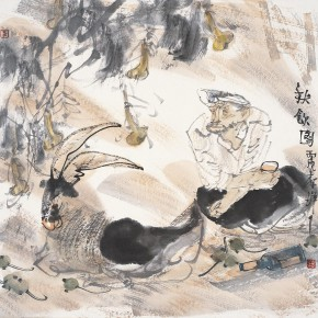 "30 Li Yang, ""Drinking in the Autumn Figure"", 68 x 68 cm, 2006"