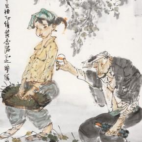"31  Li Yang, ""A Toast for the Autumn Harvest"", 136 x 68 cm, 2011"