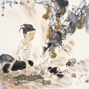 "32 Li Yang, ""Happiness of Autumn Harvest"", 136 x 68 cm, 2006"