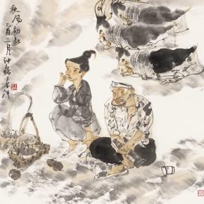 "35 Li Yang, ""The Early Autumn Wind"", 68 x 68 cm, 2005"