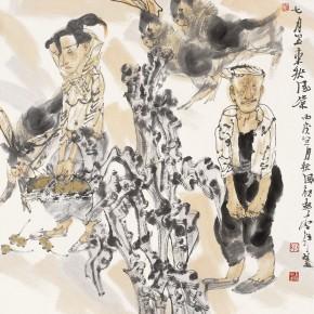 """38 Li Yang, """"July"""", 68 x 68 cm, 2006"""