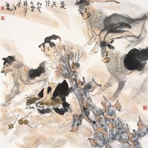 "42 Li Yang, ""The Blue Flowers"", 68 x 68 cm, 2006"