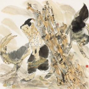 """43  Li Yang, """"LanHuahua"""", 68 x 68 cm, 2005"""