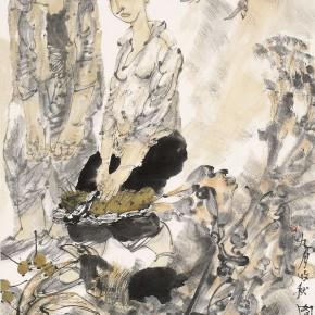 """44 Li Yang, """"Autumn Harvest in September"""", 136 x 68 cm, 2006"""